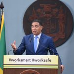 Jamaica's Prime Minister, Andrew Holness, speaks at a virtual press conference at Jamaica House, on Monday (June 29). Photo credit: Adrian Walker/JIS.