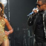 Billionaire super-couple, Beyoncé and Jay-Z, performing in November 2009. Photo credit: idrewuk; originally posted to Flickr as Hello hubbie!, CC BY 2.0.