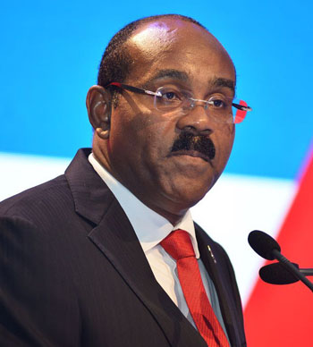 Prime Minister of Antigua and Barbuda, Gaston Browne.