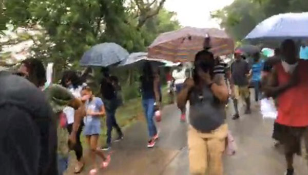 Grenadians Protest After Black Man Beaten, Allegedly, By White Foreigner Family, Over Death Of A Dog