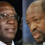 St. Kitts and Nevis Prime Minister, Dr. Timothy Harris (left) and Opposition Leader, Dr. Denzil Douglas. CMC file photo.
