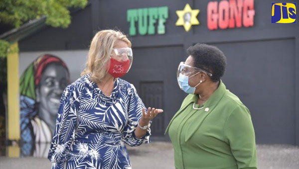 Jamaica's Minister Of Culture And Canadian High Commissioner Tour Bob Marley's Tuff Gong Studios