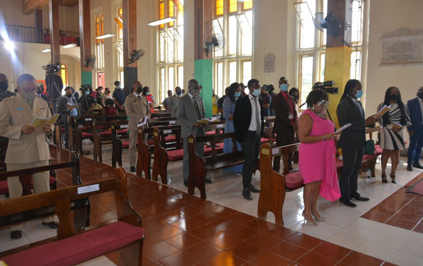 A section of the congregation taking part in the National Heritage Week Thanksgiving Church Service. Photo credit: Okoye Henry/JIS.