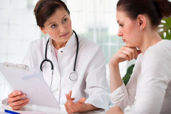 A physical examination is important for anyone experiencing painful sex, so no other contributing physical conditions are missed. Photo credit:  (c) Can Stock Photo / gajdamak