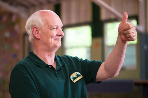 Colin Mochrie plays Roger, the camp director. Photo credit: Jesse Hebert; author provided.