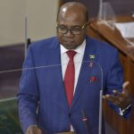 Jamaica's Tourism Minister, Edmund Bartlett, addresses the House of Representatives on December 15. Photo credit: Donald De La Haye/JIS.