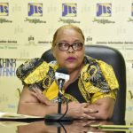 Chief Executive Officer (CEO) of the Jamaica Business Development Corporation, Valerie Veira, speaks at a Jamaica Information Service (JIS) 'Think Tank', on Tuesday. Photo credit: Donald De La Haye/JIS.