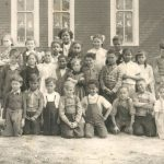 Students of School Section #13, with teacher, Verlyn Ladd, who taught at the school from 1939 to 1958. Class of 1951, Buxton, Raleigh Township, Ontario. Photo credit: Buxton National Historic Site and Museum). Author provided.