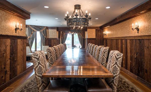 Derek Jeters Castle -- Dining Room