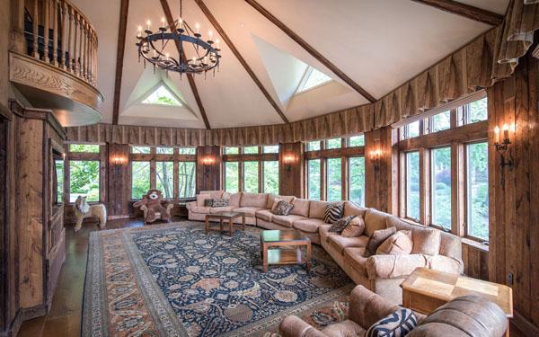 Derek Jeters Castle -- Living Room