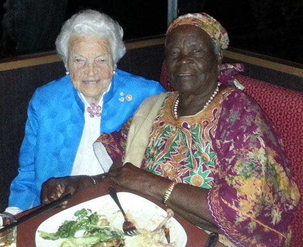 Mama Sarah Obama with former Mississauga, Mayor, Hazel McCallion. Photo courtesy of Marsat Onyango Obama.