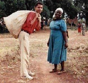 A Young Barack Obama with his grandmother, Mama Sarah Obama. Photo courtesy of Marsat Onyango Obama.