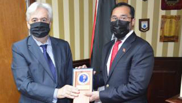 Trinidad's National Security Minister Meets With Chile's Ambassador