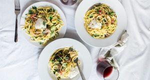 Zucchini & Goat Cheese Pasta
