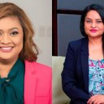 Guyana's Education Minister, Priya Manickchand (left); and Human Services and Social Security Minister, Dr. Vindhya Persaud. Photo credit: DPI.