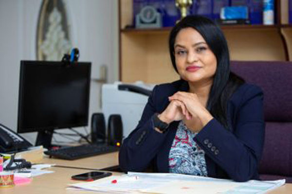 Guyana's Human Services and Social Security Minister, Dr. Vindhya Persaud. Photo credit: DPI.
