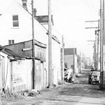 Hogan's Alley pictured in April 1958. Photo credit: City of Vancouver Archives.