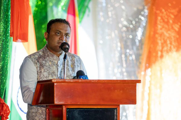 High Commissioner of India to Guyana, Dr. K. J. Srinivasa. Photo credit: GDPI.