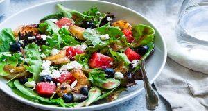 Watermelon Feta Salad with Lime-Cilantro Vinaigrette