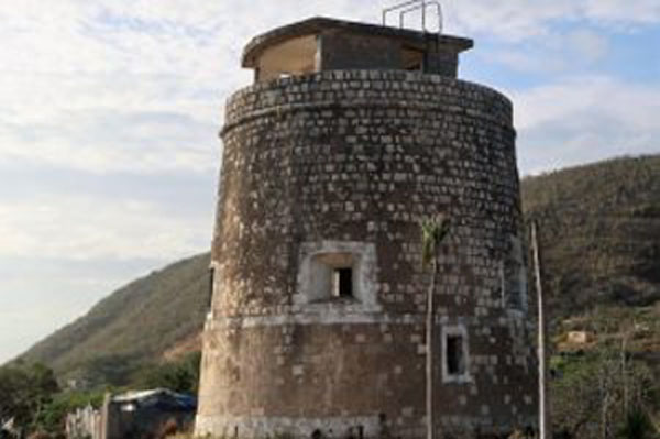 One of the two Martello Towers in the Caribbean, located at Fort-Nugent in Jamaica.