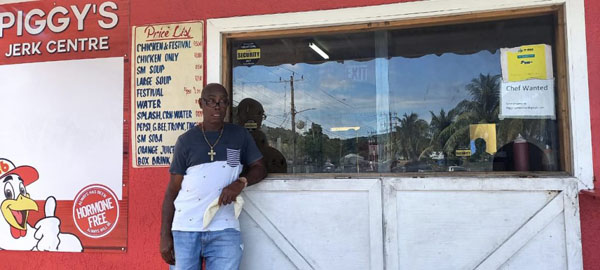 """Jamaican businessman, Eustas """"Piggy"""" Lindsay, received support from the James Bond cast and crew to rebuild his jerk centre after it was destroyed by fire. Photo credit: Contributed."""
